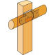 Vis à bois CSA Torx 5x25 mm Simpson CSA5,0x25