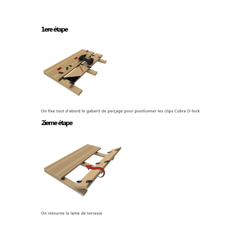 Kit Cobra D Lock Pour Terrasse Bois Et Composite