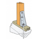 Ancrage Simpson HD3B pour montants d'ossatures